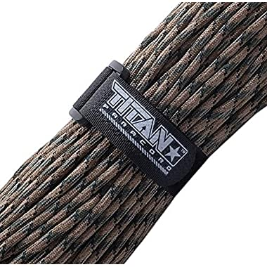 TITAN WarriorCord | FOREST-CAMO | 103 CONTINUOUS FEET | Exceeds Authentic MIL-C-5040, Type III 550 Paracord Standards. 7 Strand, 5/32  (4mm) Diameter, Military Parachute Cord.