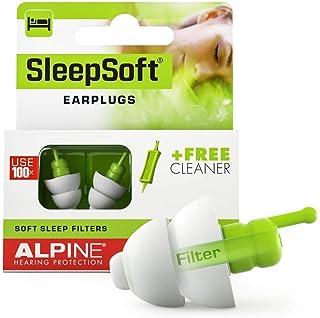 Alpine SleepSoft Bouchons d'oreilles : protections auditives pour le sommeil - Atténuent les bruits nuisibles - Filtres do...