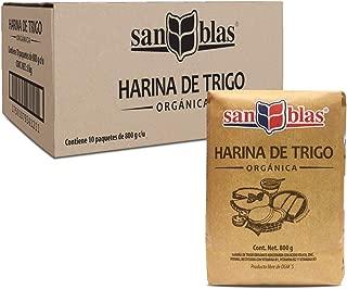 San Blas Harina de Trigo Orgánica, 800 g, 10 Paquetes