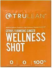 Trulean Immune Support Wellness Shot Vitamin C D B12 Zinc Turmeric Ginger with Lemonade Flavor 30 Pack