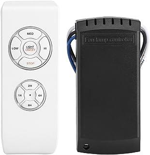 Haofy Controlador de Ventilador, 4 Tiempos 3 Velocidades Controlador de Lámpara de Ventilador con Mando a Distancia para Ventilador de Techo