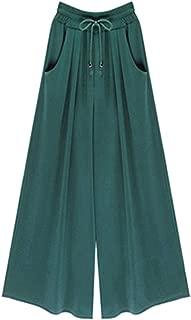Woman Wide Leg Pants Loose Drawstring Casual Ankle-Length Pockets Female Harem Pants Plus Size