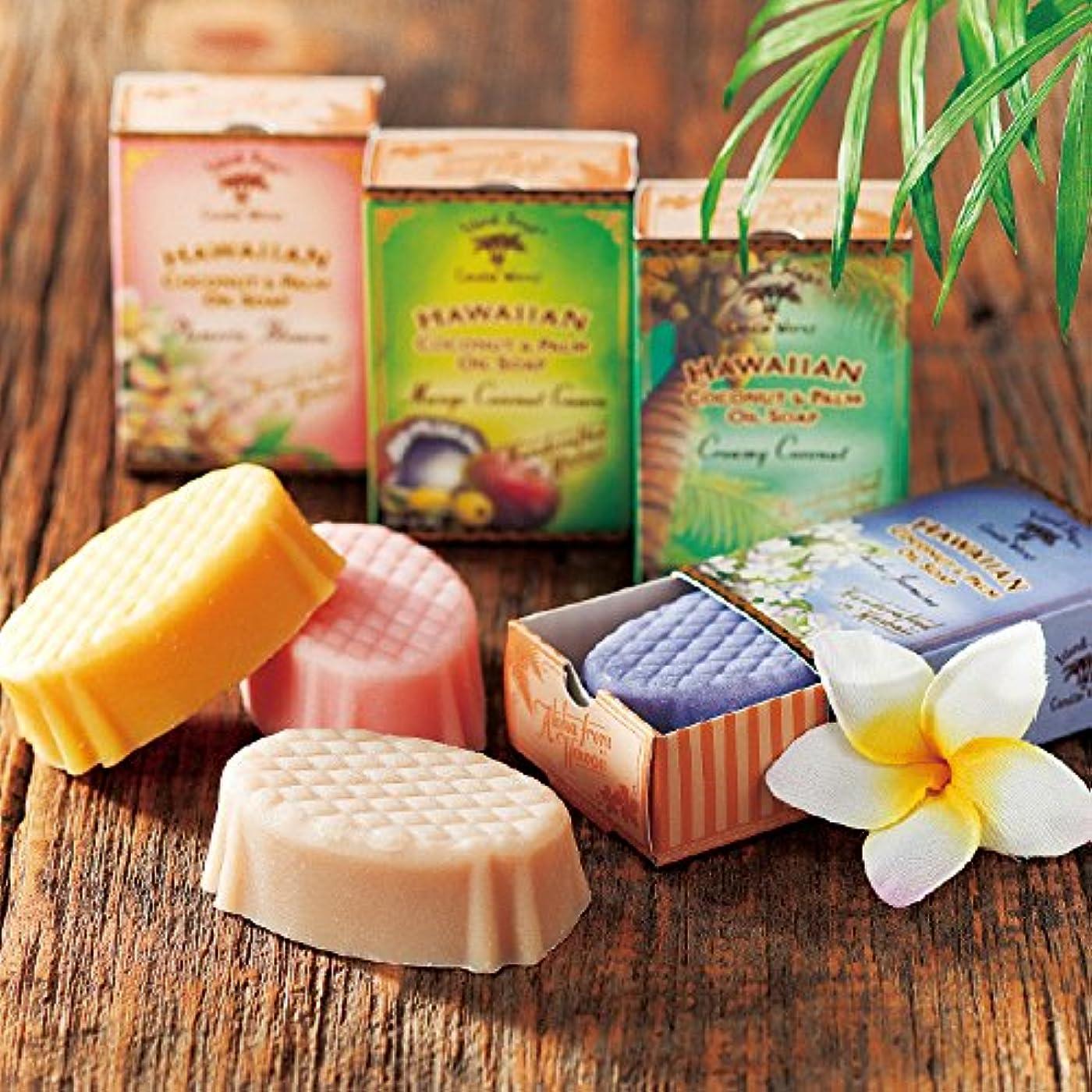 流行しているボイド折る[ハワイお土産] アイランドソープ ココナッツソープ 4種セット (海外 みやげ ハワイ 土産)