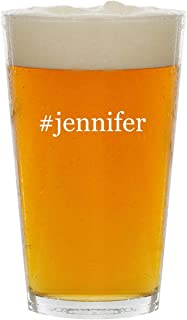 #jennifer - Glass Hashtag 16oz Beer Pint