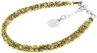 Bracciale Giallo in Argento 925 con Cristalli Luminosi Collezione Tennis