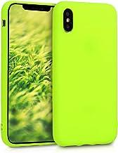 kwmobile Apple iPhone XS Cover - Custodia per Apple iPhone XS in Silicone TPU - Backcover Protezione Giallo Fluorescente