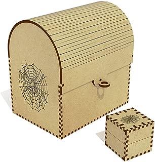 Azeeda  Spider Web  Treasure Chest Jewellery Box  TC00041176