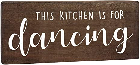 This Kitchen is for Dancing Sign - Farmhouse Wall Decor - 6x12 Rustic Wood Decoration with Saying