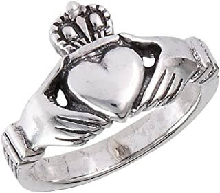 925 Sterling Silver Traditional Claddagh Celtic Ring