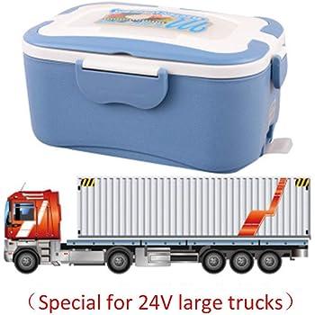 Fiambrera de Acero Inoxidable PROKTH camion y Trabajo Voltaje 12V y 24V Termo Comida Caliente 1.5L Fiambrera electrica para Coche