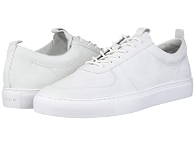 Grenson Nubuck Low Top Sneaker (White Nubuck) Men