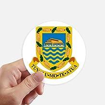 DIYthinker Tuvalu Oceania National Emblem Round Stickers 10Cm Wall Suitcase Laptop Motobike Decal 8Pcs Diameter 10Cm Multi...