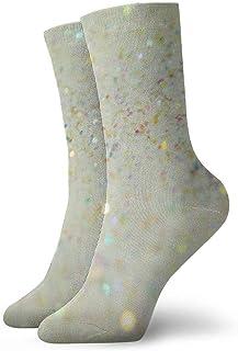 tyui7, Calcetines de compresión antideslizantes con brillo de aguacate y carne Corlour Cosy Athletic 30cm Crew Calcetines para hombres, mujeres, niños
