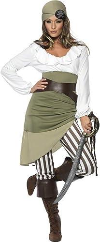 NET TOYS Costume femme pirate Taille L 44 46 costume de pirate femme déguiseHommest de corsaire pilleuse des mers déguiseHommest de femme pirate