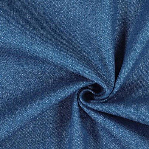 Fabulous Fabrics Jeans Jeansblau, Uni, 140cm breit – Jeans zum Nähen von Jeans, Jacken und Röcken – Meterware erhältlich ab 0,5 m