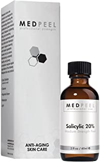 Salicylic Acid 20% Peel - Medium Strength, Professional Strength Medical Grade Chemical Face Peel for all Skin Tones 2oz / 60ml