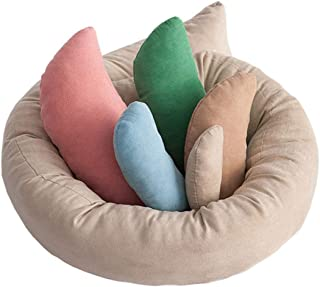 USDREAM Newborn Photography Prop Posing Beans Bag Professional Baby Photo Posing Aid Pillow Photograph Shoot Set for 0-6 Months Baby, Pack of 6, Multicolor
