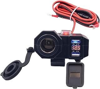 RERERPTG 12V Waterproof Motorcycle Dual USB Phone Power Socket Charger Auto Parts