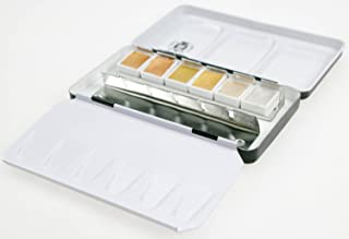 Schmincke Metal tin set of 6 half pans - Gold Limited Edition colours