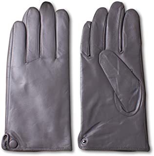 Nappaglo Men's Classic Lambskin Leather Gloves Touchscreen Pure Cashmere Lining Winter Warm Driving Mittens