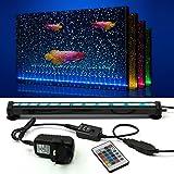 NEWNEN Fish Tank Light Waterproof Aquarium Lights Remote Control 5050 LED Color Changing,Air