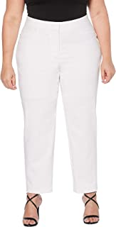 Rafaella Womens LRBB0116 Plus Size Lightweight Satin Twill Ankle Pant Dress Pants