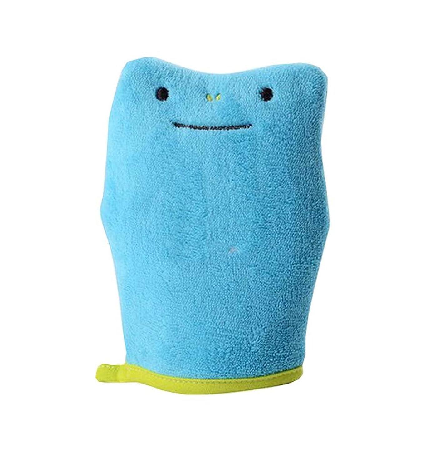 成長球状キャッチバスブラシスポンジバスタオル製品子供バススポンジ、ブルー