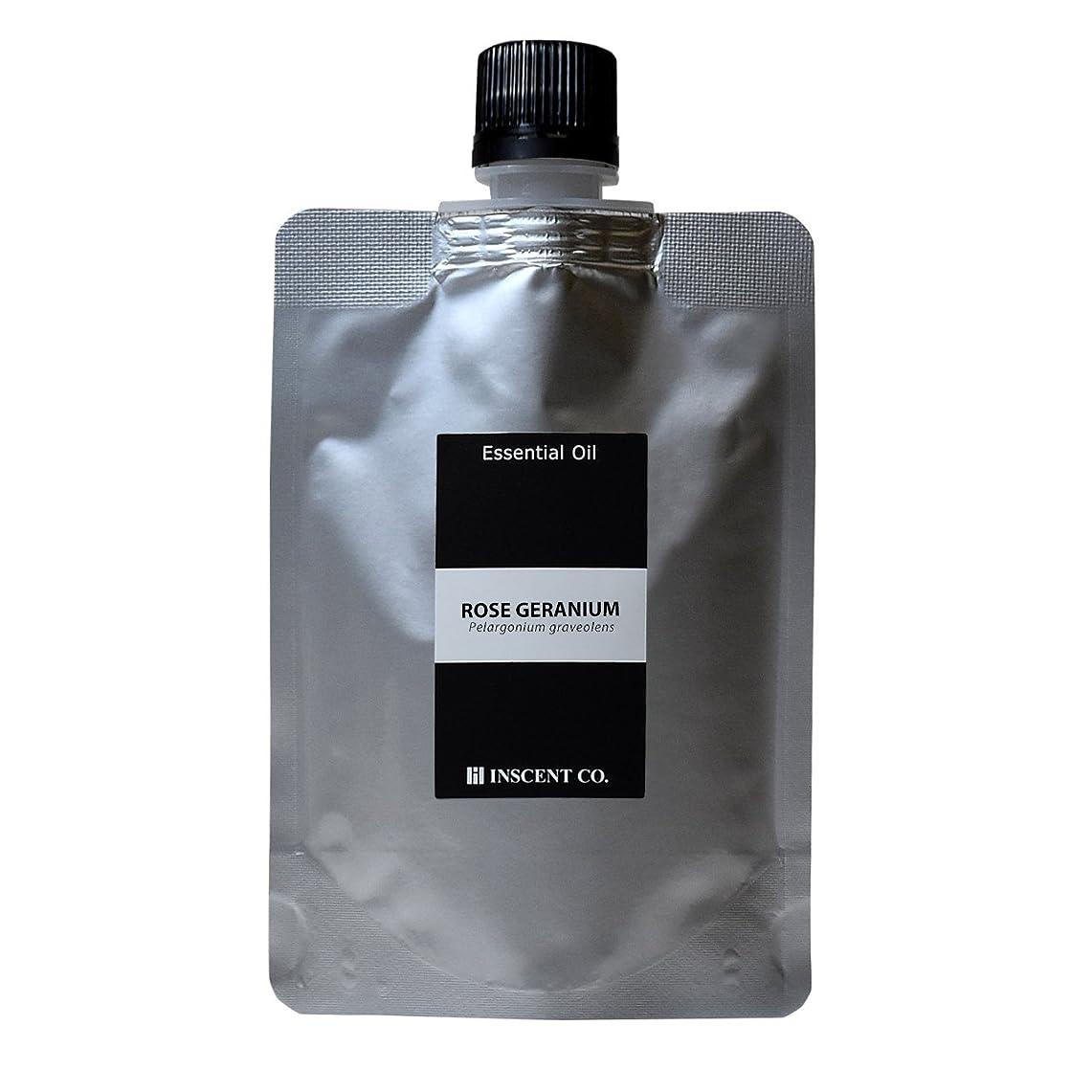 接触閉じるピストン(詰替用 アルミパック) ローズゼラニウム 50ml インセント アロマオイル AEAJ 表示基準適合認定精油