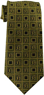 LDS Children's Tie for boys 8-14 years old Book of Mormon LDS Tie, Sacred Grove, Joseph Smith's First Prayer (Gold with Black)