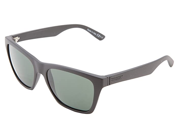 VonZipper Booker (Black Satin/Vintage Grey) Sport Sunglasses
