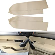 QKPARTS 2(1Pair) Real Leather Front Door Panels Armrest Cover For Honda Cr-V Crv 2007-2012 (Leather Only) Beige Tan