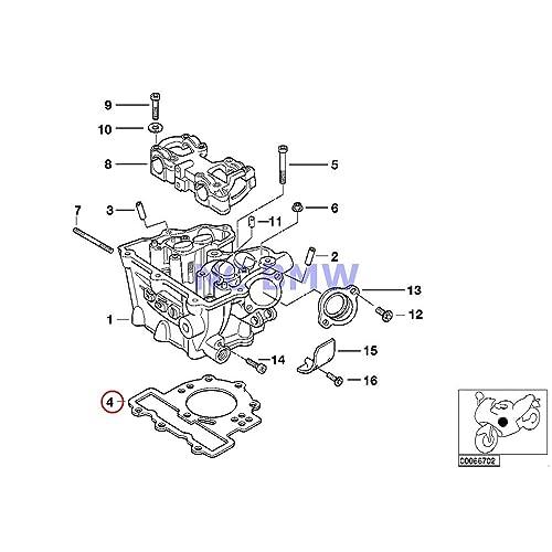 bmw genuine motorcycle cylinder head gasket f650cs g650 xchallenge g650  xcountry g650 xmoto f650gs f650gs dakar