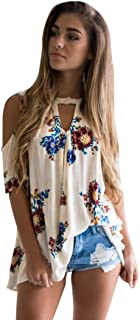 Gillberry Women's Loose Casual Button Blouse T Shirt Tank Tops