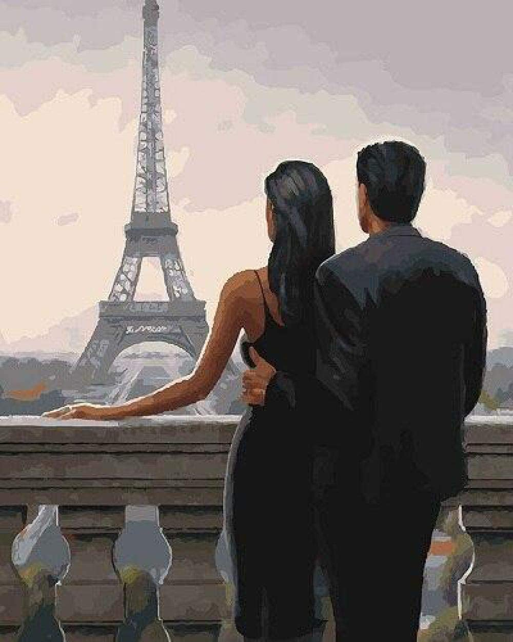Painting by Numbers for Adults Tower 67% OFF of fixed price DIY Lovers Max 77% OFF Paint Eiffel