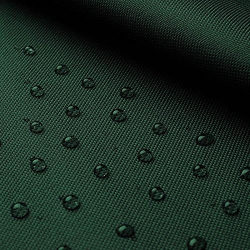 (7,99€/m) Breaker Impermeable - Lona de poliéster robusta recubierta de PVC - Impermeable y a prueba de viento - Por metro (verde oscuro)