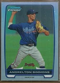 2012 Bowman Chrome Prospects Refractor #BCP109 Andrelton Simmons Atlanta Braves MLB Baseball Card /500 NM-MT