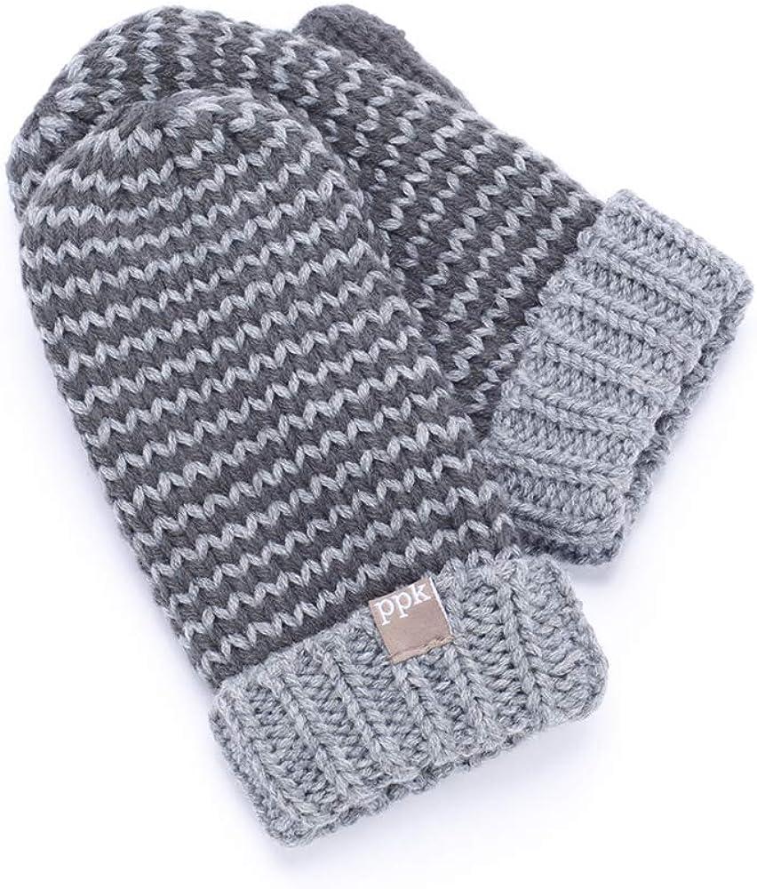 Stripe Mittens (fleece Lining)