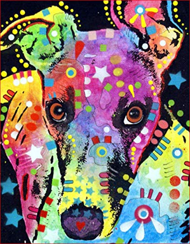 Diamond Paintings DIY 5D Set, Full Drill Embroidery Paintings Rhinestone Pasted DIY Painting Cross Stitch Arts Crafts for Home Wall Decor, Adults and Kids - Color Dog,16 x 16 inch