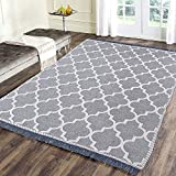 Sparrow World Solid Carpet (Grey, Chenille, 5 x 7 ft)