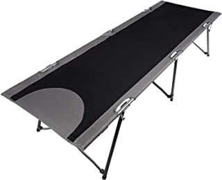 PORTAL Folding Portable Camping Cot, Travel Military Adult Cot with Carry Bag, Support 300lbs
