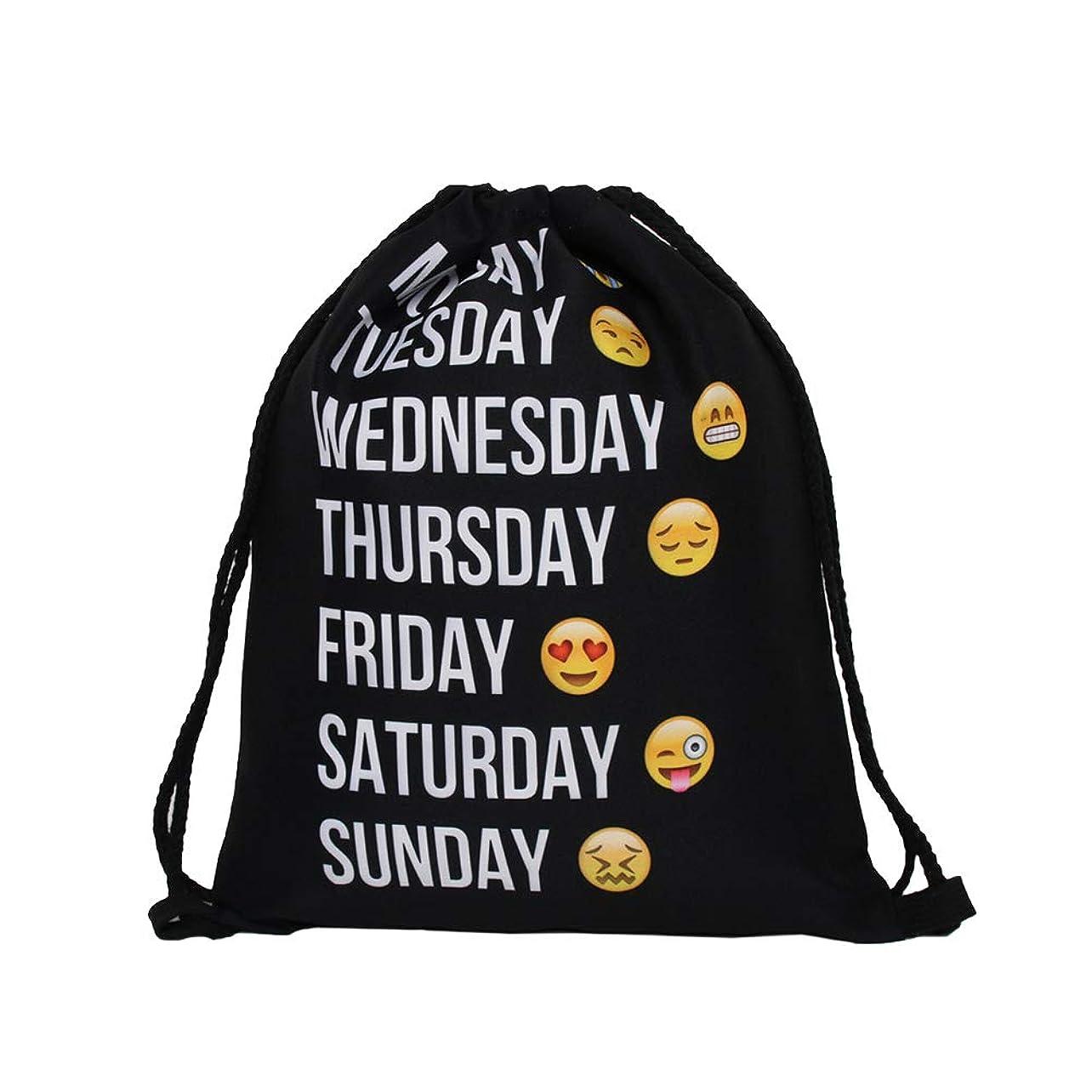 泣き叫ぶスタウト無意識Lurrose 巾着バックパック巾着ジムバッグ旅行化粧品バッグジムスポーツ旅行