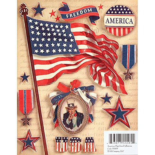 K&Company American Flag Grand Adhesions Stickers