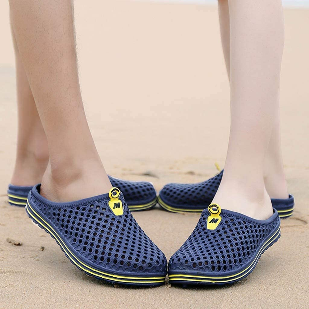 RQWEIN Mens and Womens Clog Sandals Garden Clogs Sandals Slippers Breathable Comfortable Lightweight Slip-On Beach Pool Casual Water Shoes