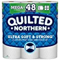 Quilted Northern Ultra Soft & Strong Toilet Paper, 12 Mega Rolls = 48 Regular Rolls