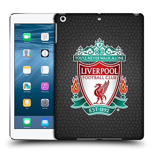 Official Liverpool Football Club Black Pixel 1 Crest 2 Hard Back Case Compatible for Apple iPad Air (2013)