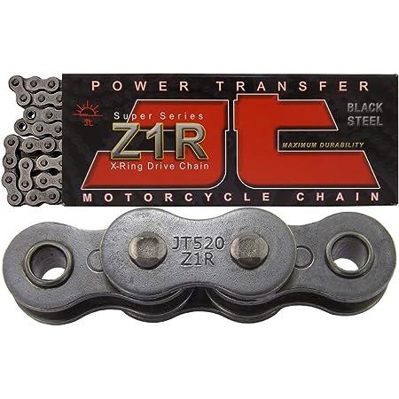 JT Chain JTC520X1R3-112DL Black Steel 520X1R3 112-Link Heavy Duty X-Ring Drive Chain