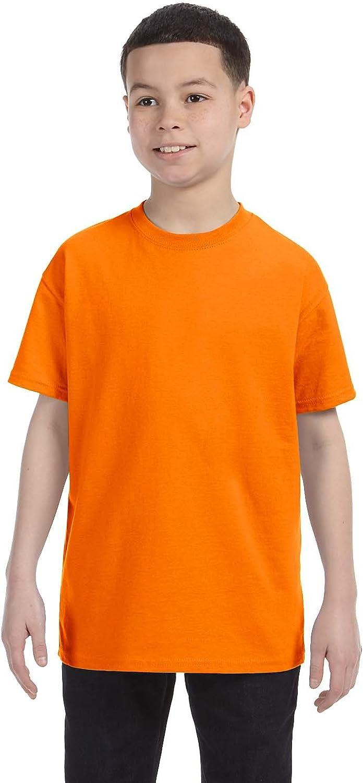 Gildan Big Boys Heavy Taped Neck Comfort Jersey T-Shirt, Tennessee Orange, XL