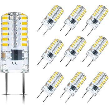 G8 LED Bulb Dimmable 3W T4 G8 Bulb Equivalent to G8 Halogen Bulb 20W-25W, Mini G8 Light Bulb Warm White 3000K, Bi-Pin G8 Base, AC 110V/120V/130V (10 Pack)