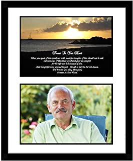 Sympathy Gift for Him, Forever in Your Heart Condolence Poem in Frame, Add Photo
