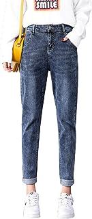 Miwaimao Jeans Mujer Mamá Vaqueros Pantalones Vaqueros Novio para Mujeres con Cintura Alta Empuje